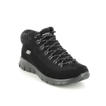 Skechers Lace Up Boots - Black - 12122 WINTER NIGHTS