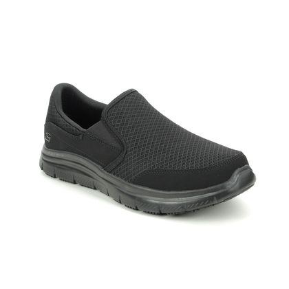 Skechers Slip-on Shoes - Black - 77048EC WORK MCALLEN SLIP RESISTANT