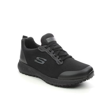 Skechers Trainers - Black - 77222EC WORK SQUAD SLIP RESISTANT