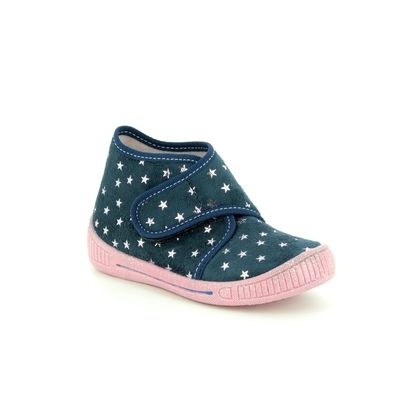 Superfit 1st Shoes & Prewalkers - Navy - 00246/81 BULLE STARS