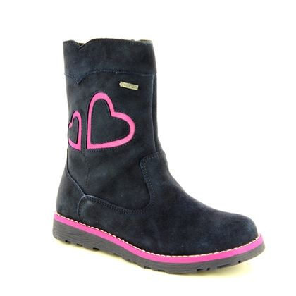 Superfit Girls Boots - Navy Suede - 00388/80 EMMA GORE TEX
