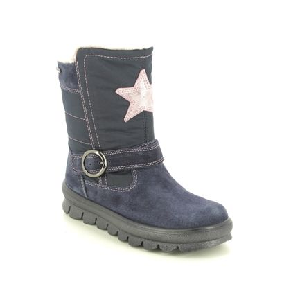 Superfit Girls Boots - Navy suede - 1009215/8000 FLAVIA STAR GTX