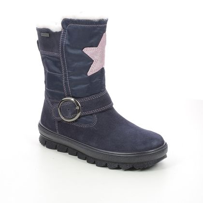 Superfit Girls Boots - Navy suede - 1009215/8000 FLAVIA STAR GTX