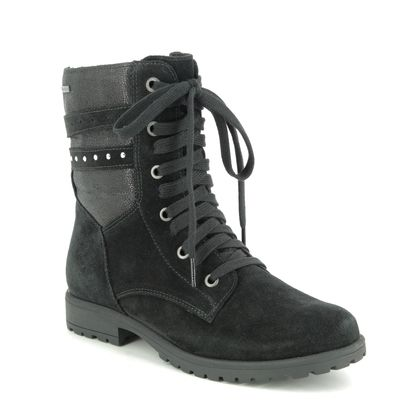Superfit Girls Boots - Black Suede - 06180/00 GALAXY LACE GTX