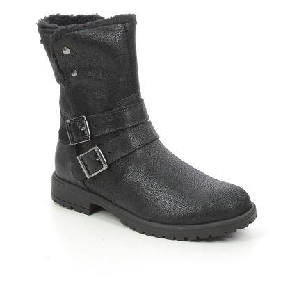 Superfit Girls Boots - Black Glitz - 0806175/0000 GALAXY LOW GORE TEX
