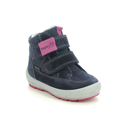 Superfit Infant Girls Boots - Navy Suede - 1009314/8010 GROOVY GTX