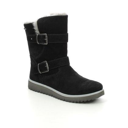 Superfit Girls Boots - Black Suede - 0800484/0200 LORA GTX