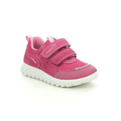 2.5 UK Child Superfit Girls Happy Hi-Top Slippers