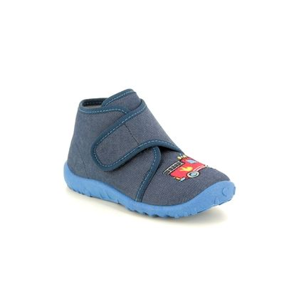 Superfit Slippers - Navy - 09253/80 SPOTTY FIRE