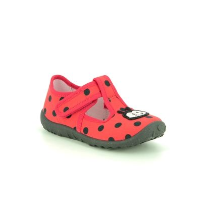Superfit Slippers - Red - 09256/50 SPOTTY LADYBIR