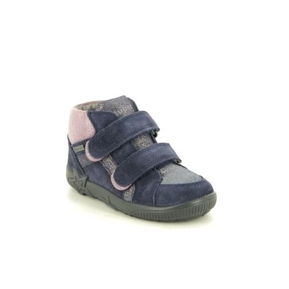 Superfit Infant Girls Boots - Navy Suede - 1009441/8000 STARLIGHT GTX