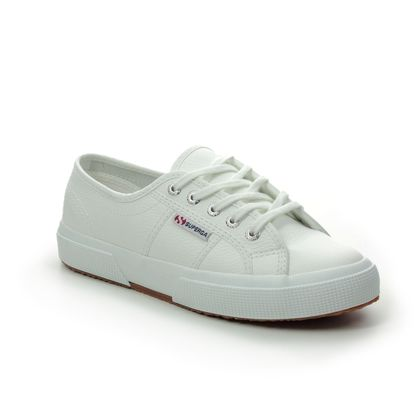 Superga Trainers - WHITE LEATHER - S009VH0/900 2750 COTU
