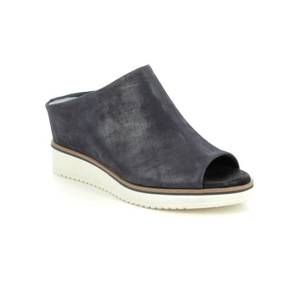 Tamaris Wedge Sandals - Navy leather - 27200/24/585 ALIS