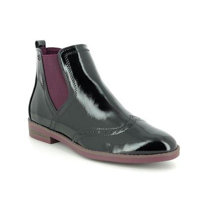 Tamaris Chelsea Boots - Black patent - 25313/23/018 ALIYA