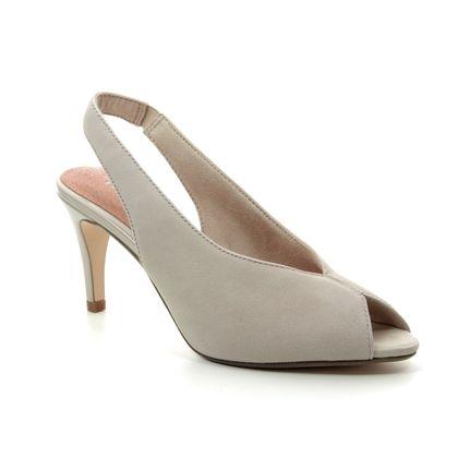 Tamaris Slingback Shoes - Beige suede - 29614/32/375 ANAYA SLING