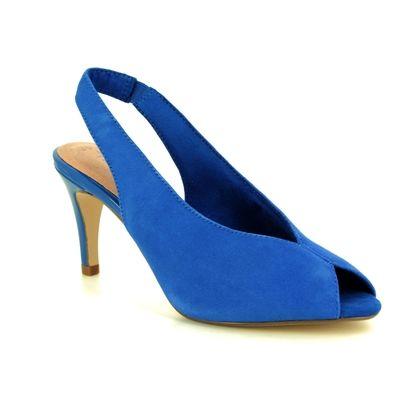 Tamaris Slingback Shoes - Blue Suede - 29614/32/838 ANAYA SLING