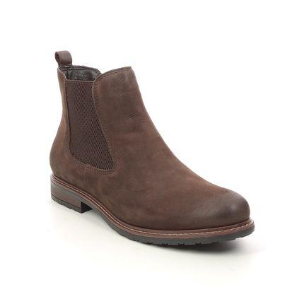 Tamaris Chelsea Boots - Brown nubuck - 25056/27/419 BELINA