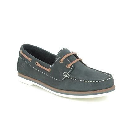 Tamaris Loafers and Moccasins - Navy Nubuck - 23616/24/805 BOAT SHOE