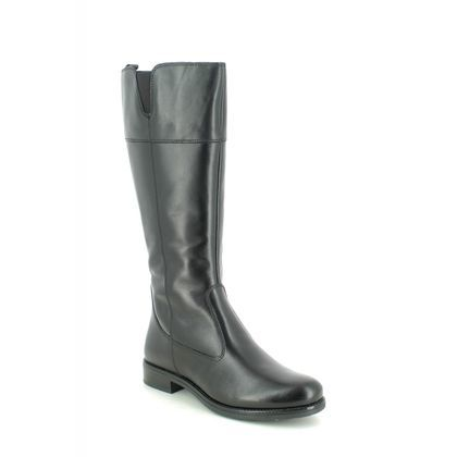 Tamaris Knee High Boots - Black leather - 25582/25/001 CARI WIDE CALF