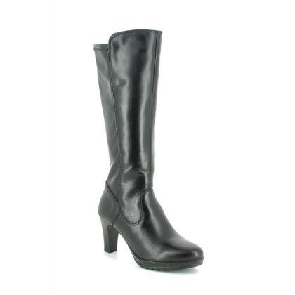 Tamaris Knee High Boots - Black leather - 25552/23/001 CARMEN 95