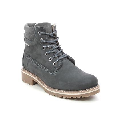 Tamaris Lace Up Boots - Dark grey nubuck - 26244/27/214 CASTER TEX