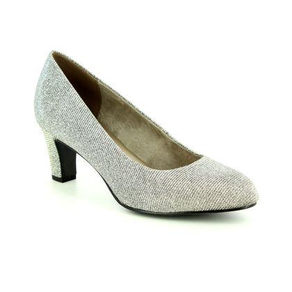 Tamaris Court Shoes - Silver Glitz - 22418/21/970 CAXIAS 85