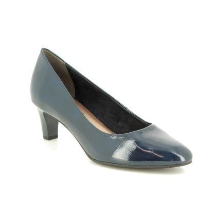 Tamaris Court Shoes - Navy patent - 22493/21/826 CONSTANCE