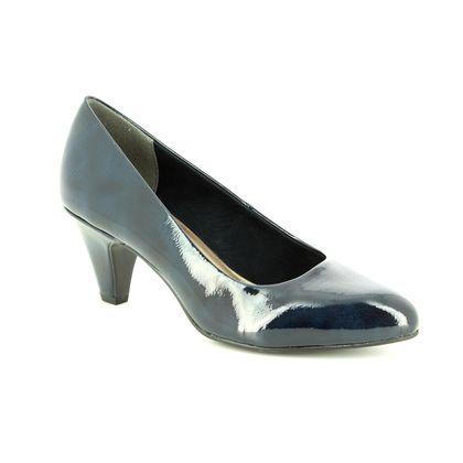 Tamaris Court Shoes - Navy patent - 22416/21/826 CRESSCO 85