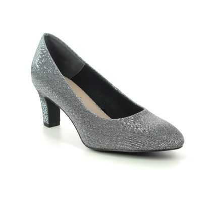 Tamaris Court Shoes - Silver Glitz - 22418/25/271 DAENERYS