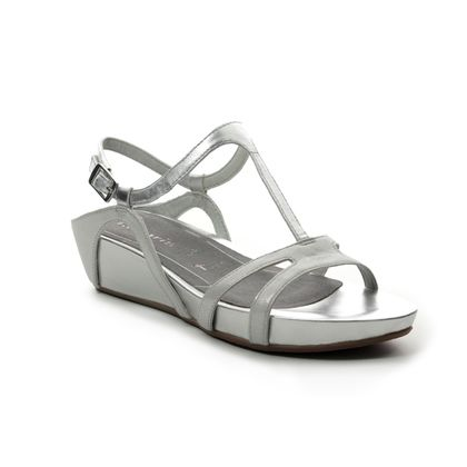 Tamaris Wedge Sandals - Silver - 28242/22/941 EDA