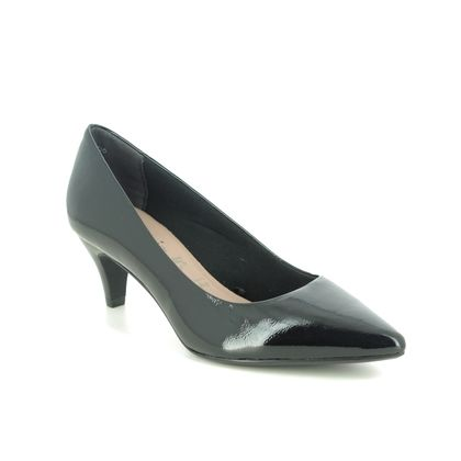 Tamaris Court Shoes - Black patent - 22495/25/018 FATSIA 05
