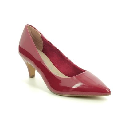 Tamaris Court Shoes - Red patent - 22495/25/559 FATSIA 05