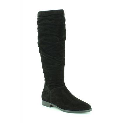 Tamaris Knee High Boots - Black Suede - 25546/21/001 GESIN  LONG