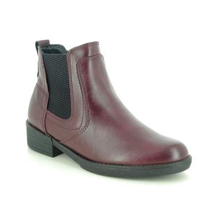 Tamaris Chelsea Boots - Wine - 25012/25/560 HAYDEN 05