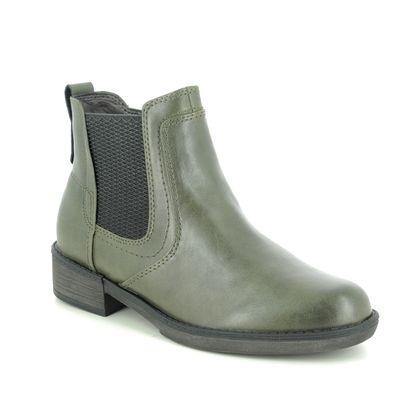Tamaris Chelsea Boots - Olive Green - 25012/25/725 HAYDEN 05