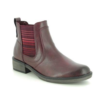 Tamaris Chelsea Boots - Wine - 25012/23/558 HAYDEN