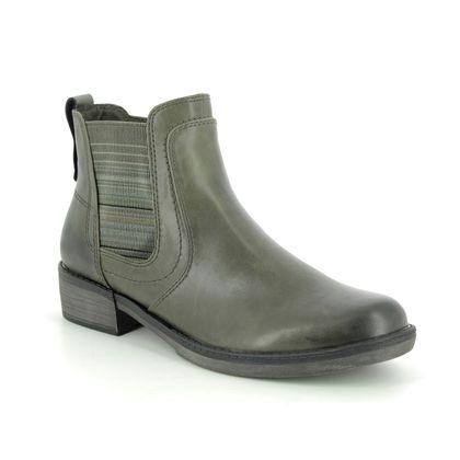 Tamaris Chelsea Boots - Olive Green - 25012/23/722 HAYDEN