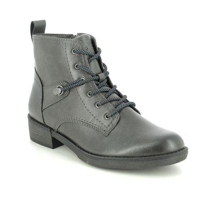 Tamaris Lace Up Boots - Dark Grey - 25116/25/206 HAYDENLACE