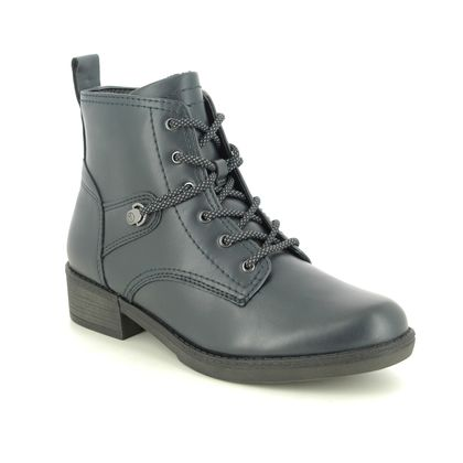 Tamaris Lace Up Boots - Navy - 25116/25/805 HAYDENLACE