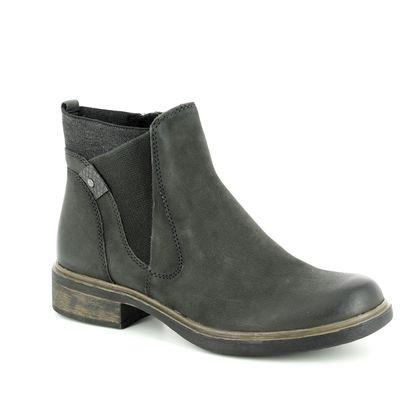Tamaris Chelsea Boots - Khaki Leather - 25317/21/712 HELIOBAND 85