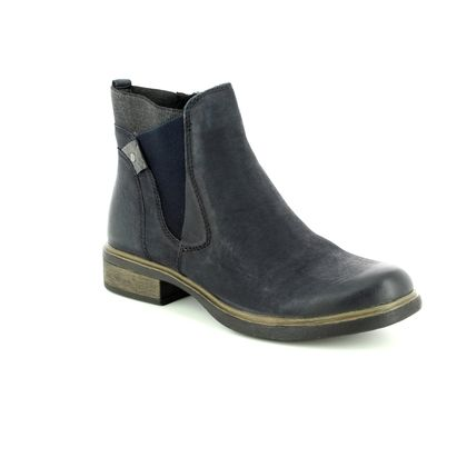 Tamaris Chelsea Boots - Navy Leather - 25317/21/828 HELIOBAND 85