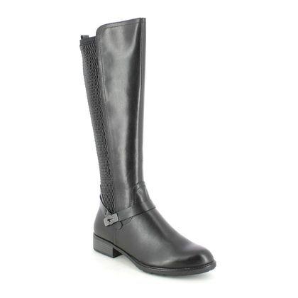 Tamaris Knee High Boots - Black leather - 25511/27/001 INDAFITONI