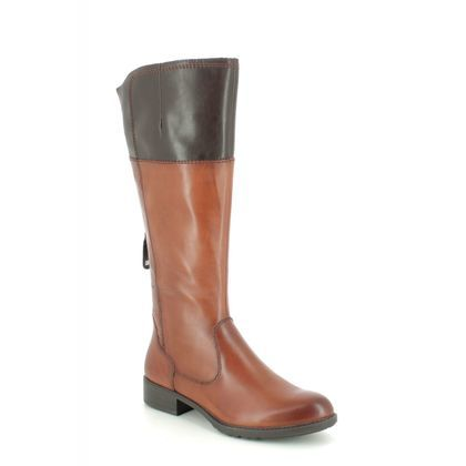 Tamaris Knee High Boots - Tan Leather  - 25508/23/378 INDAH