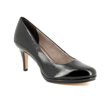 Tamaris Heeled Shoes - Black patent - 22444/23/018 JESSA