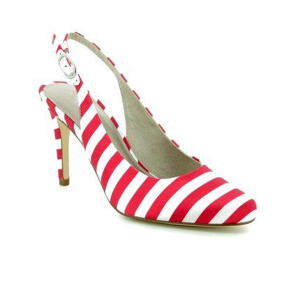 Tamaris Heeled Shoes - White-red combi - 29614/30/692 JOLIE