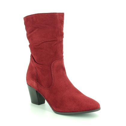 Tamaris Boots - Ankle - Red suede - 25740/23/536 JUNA