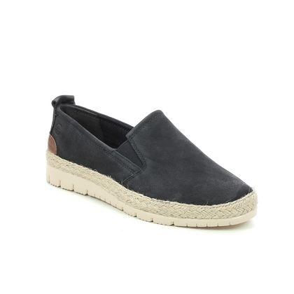 Tamaris Comfort Slip On Shoes - Navy nubuck - 24601/26/805 KAIJA