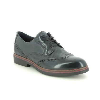 Tamaris Brogues - Navy Leather - 23711/25/805 KELA