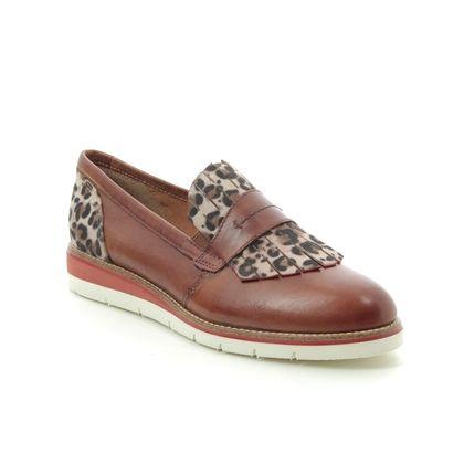 Tamaris Loafers and Moccasins - Tan Leather - 24301/24/309 KELFRINGE
