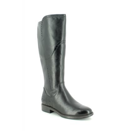 Tamaris Knee High Boots - Black leather - 25539/23/001 LILLIT